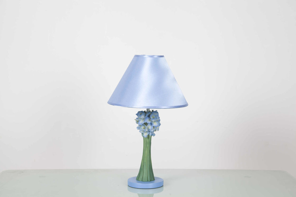 W27 * D27 * H46CM Home Table Lamps Soft With Bottom Felt Covering / Flower Shape